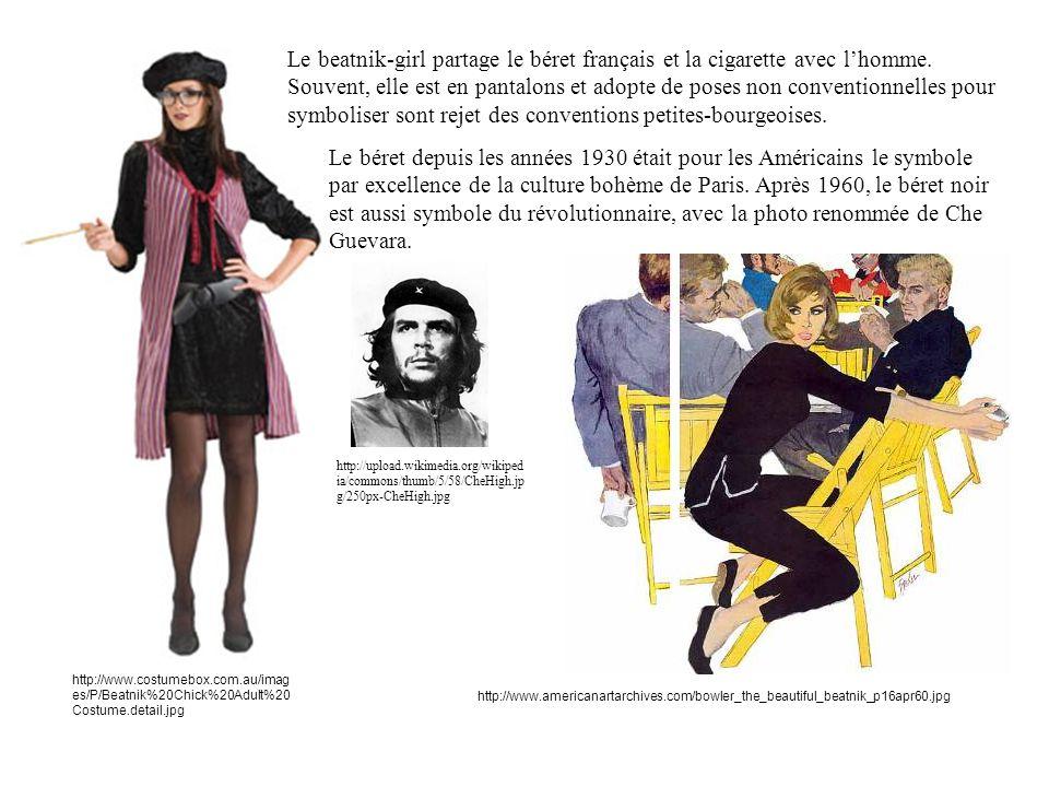 http://www.costumebox.com.au/imag es/P/Beatnik%20Chick%20Adult%20 Costume.detail.jpg Le beatnik-girl partage le béret français et la cigarette avec lhomme.