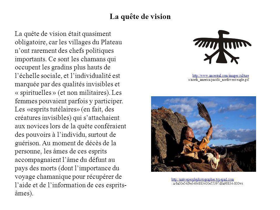 La quête de vision La quête de vision était quasiment obligatoire, car les villages du Plateau nont rarement des chefs politiques importants. Ce sont