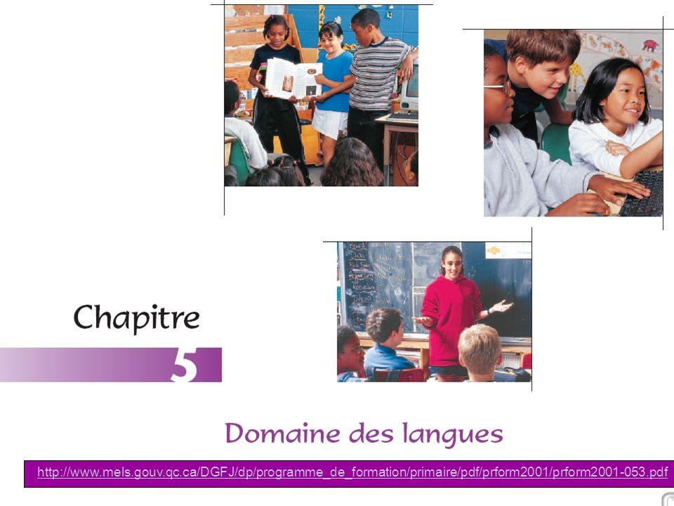 CEFES, Jacques Viens07 octobre 2005 8/21 http://www.mels.gouv.qc.ca/DGFJ/dp/programme_de_formation/primaire/pdf/prform2001/prform2001-053.pdf