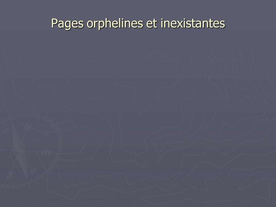 Pages orphelines et inexistantes