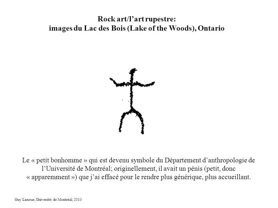 Rock art/lart rupestre: images du Lac des Bois (Lake of the Woods), Ontario Le « petit bonhomme » qui est devenu symbole du Département danthropologie