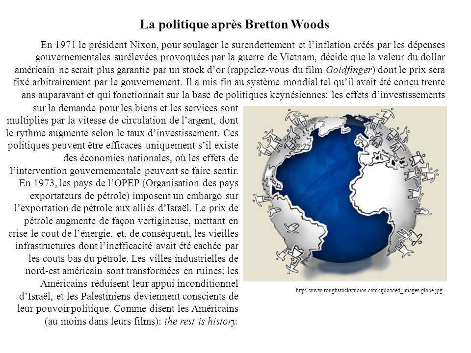 La politique après Bretton Woods sur la demande pour les biens et les services sont multipliés par la vitesse de circulation de largent, dont le rythm