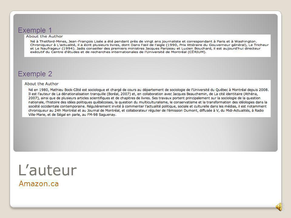 Lauteur… Le Devoir, Louis Cornelier Exemple 1 Exemple 2