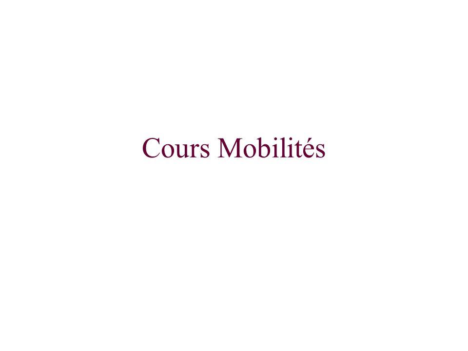 Cours Mobilités