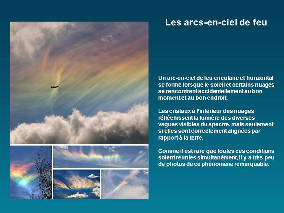 Un arc-en-ciel de feu circulaire et horizontal se forme lorsque le soleil et certains nuages se rencontrent accidentellement au bon moment et au bon endroit.