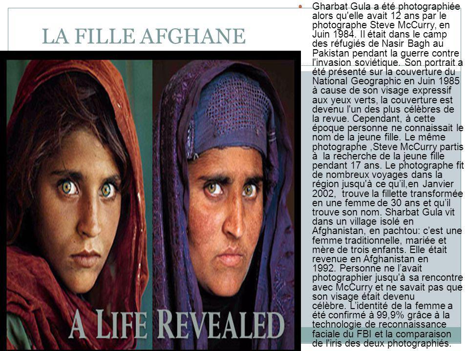 LA FILLE AFGHANE Gharbat Gula a été photographiée alors qu elle avait 12 ans par le photographe Steve McCurry, en Juin 1984.