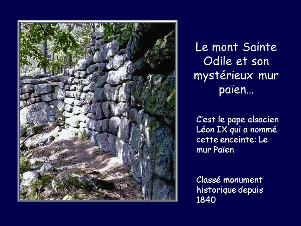Le mont Sainte Odile et son mystérieux mur païen… Cest le pape alsacien Léon IX qui a nommé cette enceinte: Le mur Païen Classé monument historique de
