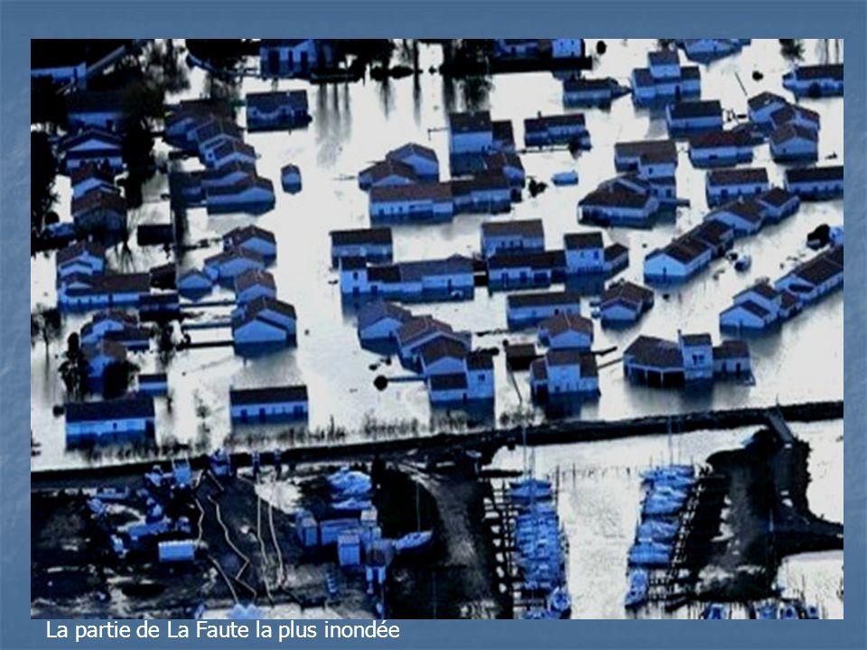 Le port de La Faute et la partie inondée