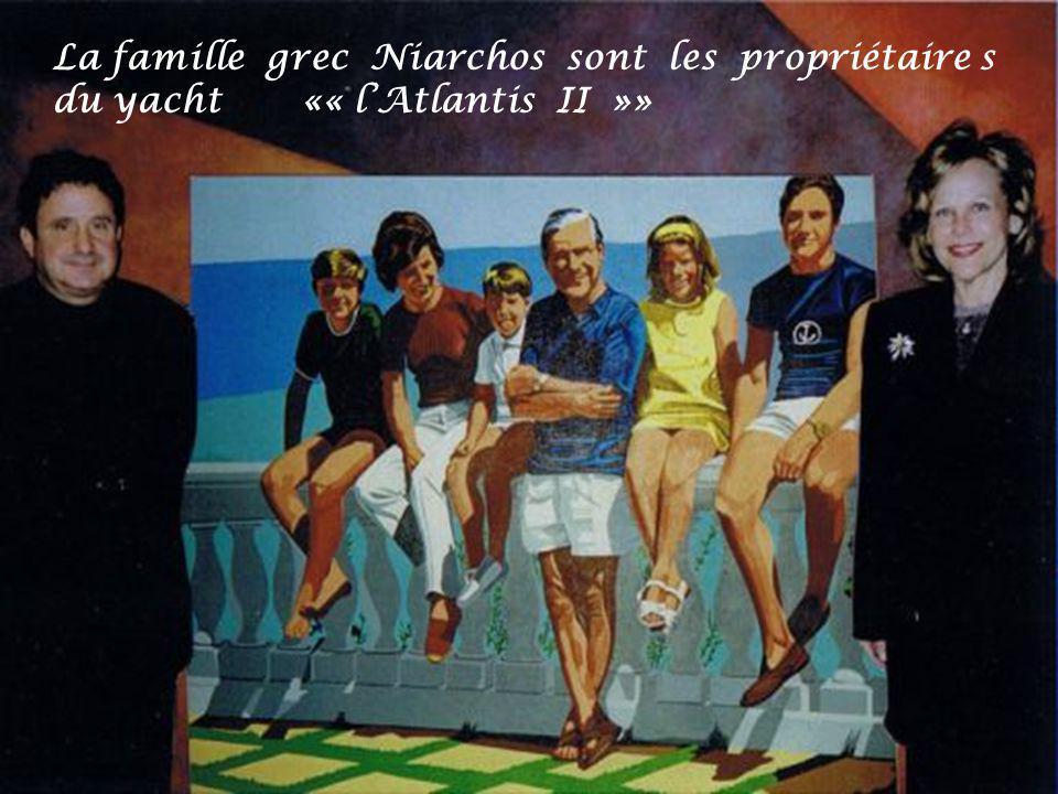 La famille grec Niarchos sont les propriétaire s du yacht «« lAtlantis II »»