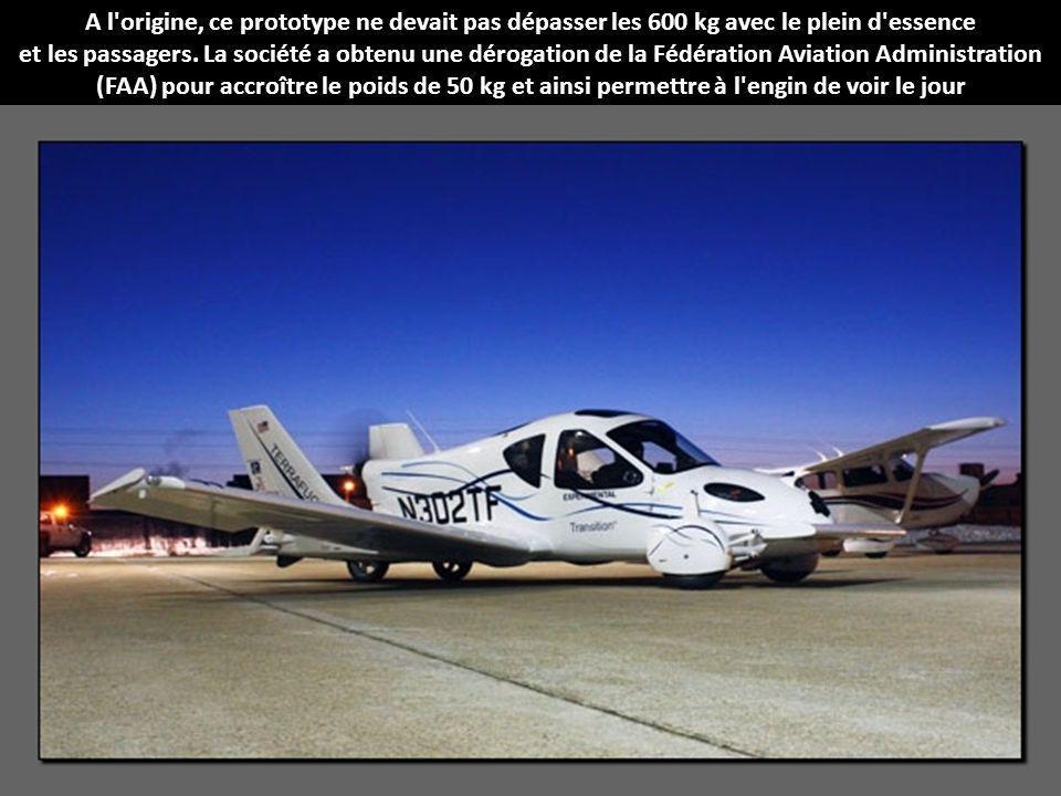A l origine, ce prototype ne devait pas dépasser les 600 kg avec le plein d essence et les passagers.