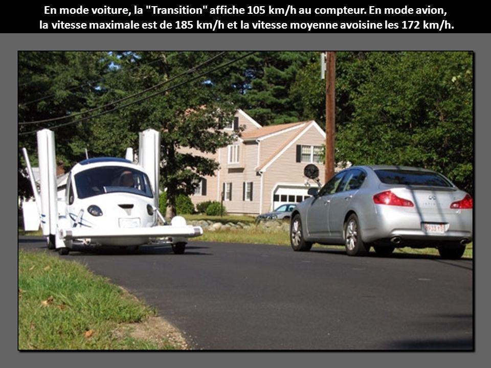 En mode voiture, la Transition affiche 105 km/h au compteur.