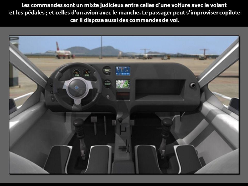Les commandes sont un mixte judicieux entre celles d une voiture avec le volant et les pédales ; et celles d un avion avec le manche.