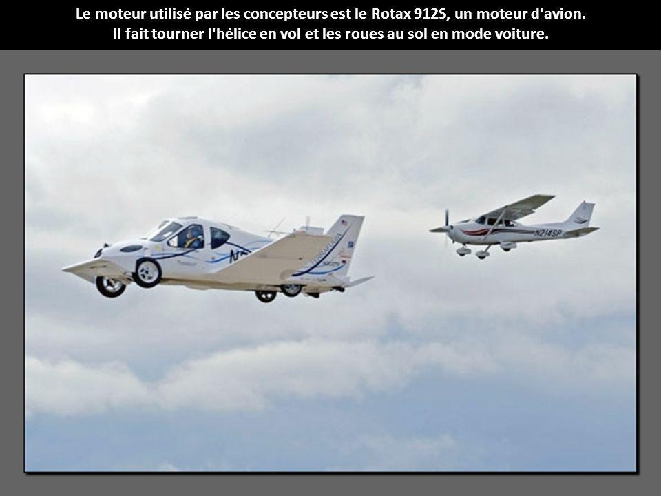Le moteur utilisé par les concepteurs est le Rotax 912S, un moteur d avion.