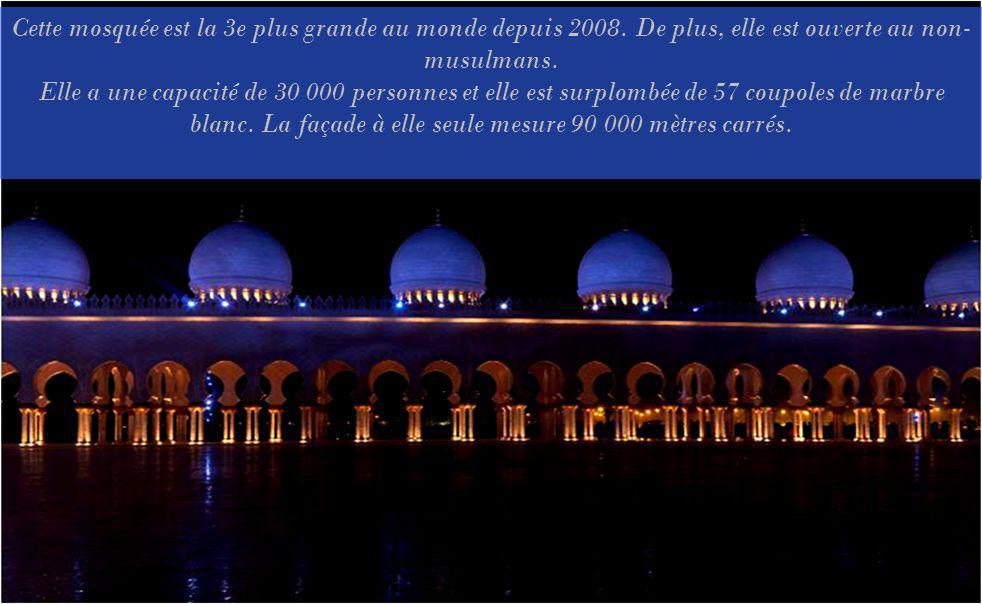 Cette mosquée est la 3e plus grande au monde depuis 2008.