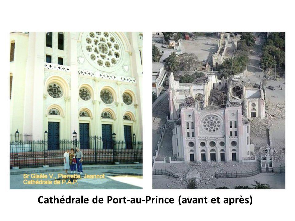 Cathédrale de Port-au-Prince (avant et après)