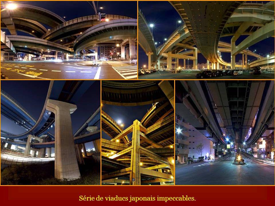 Série de viaducs japonais impeccables.
