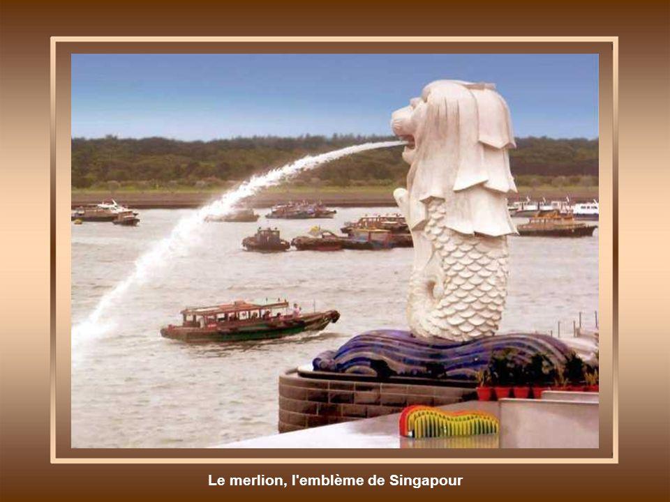 Le merlion, l'emblème de Singapour