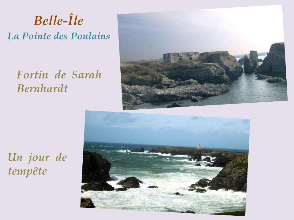 Fortin de Sarah Bernhardt Un jour de tempête Belle-Île La Pointe des Poulains