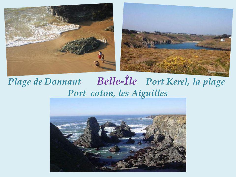 Plage de Donnant Belle-Île Port Kerel, la plage. Port coton, les Aiguilles