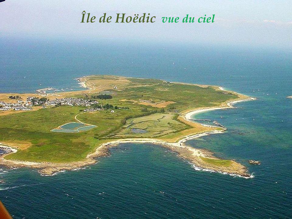 Île de Hoëdic vue du ciel