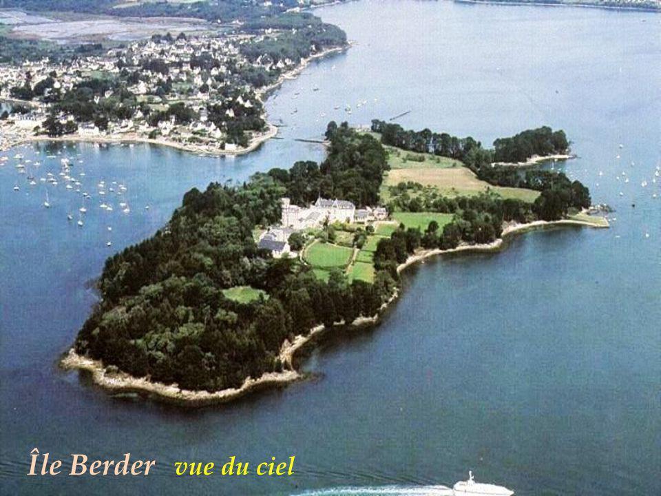 Île Berder vue du ciel