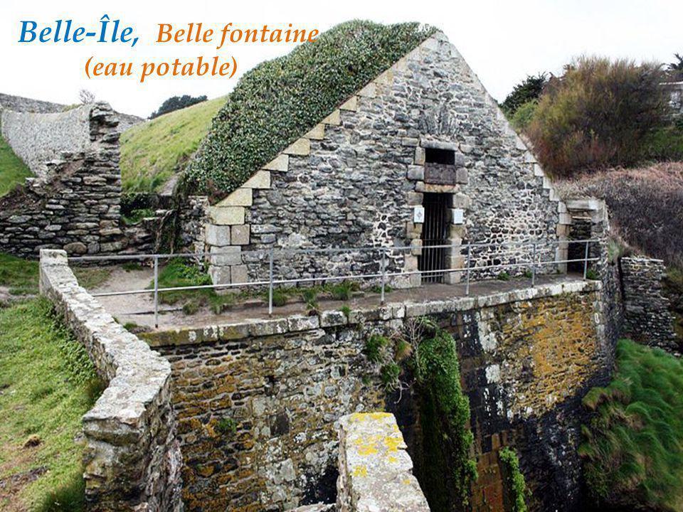 Belle-Île, Belle fontaine. (eau potable)