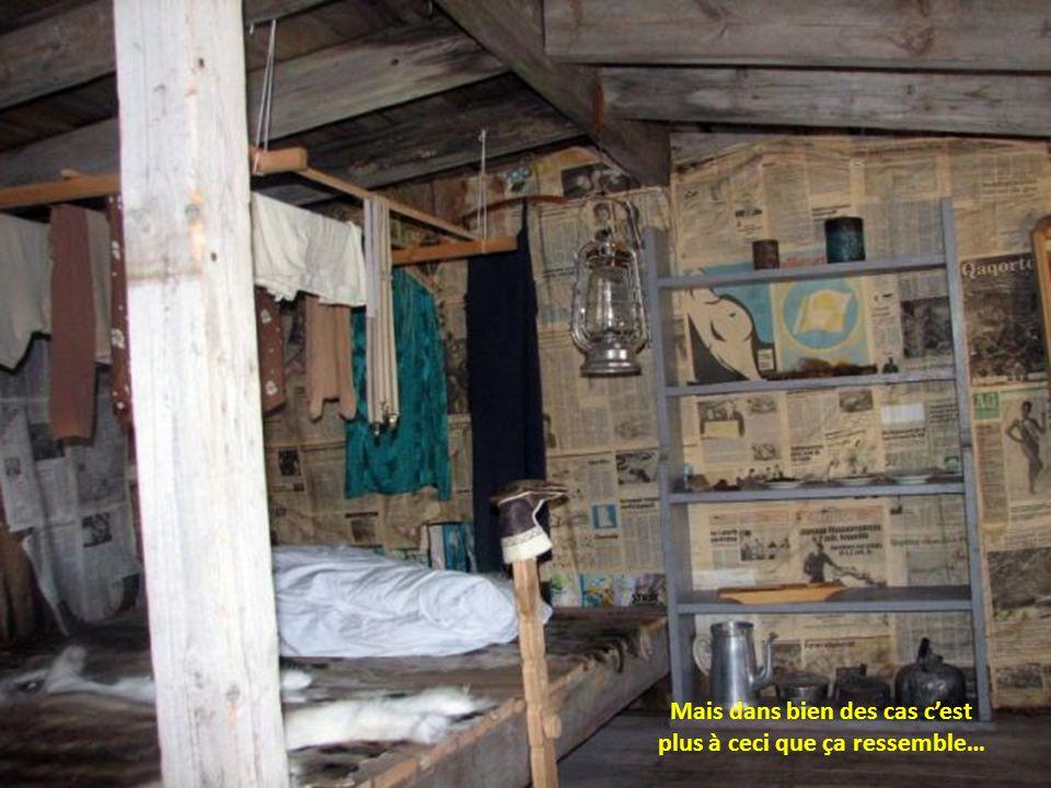 Intérieur dune maison Inuit à laise…