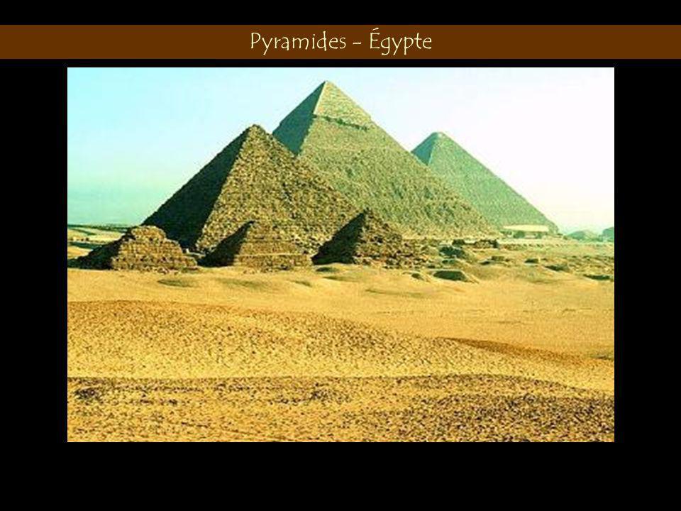 Pyramides - Égypte