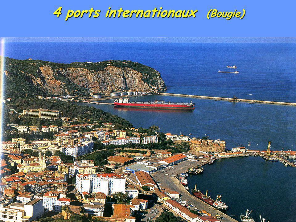 4 ports internationaux (Bougie)