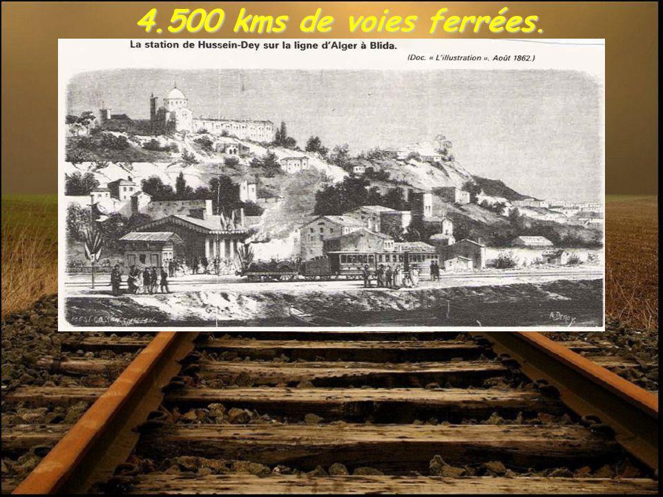 4.500 kms de voies ferrées. 4.500 kms de voies ferrées.