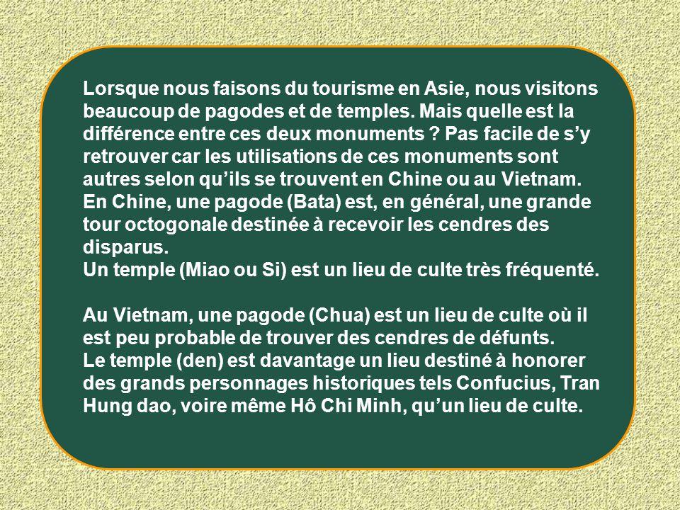 Lorsque nous faisons du tourisme en Asie, nous visitons beaucoup de pagodes et de temples. Mais quelle est la différence entre ces deux monuments ? Pa