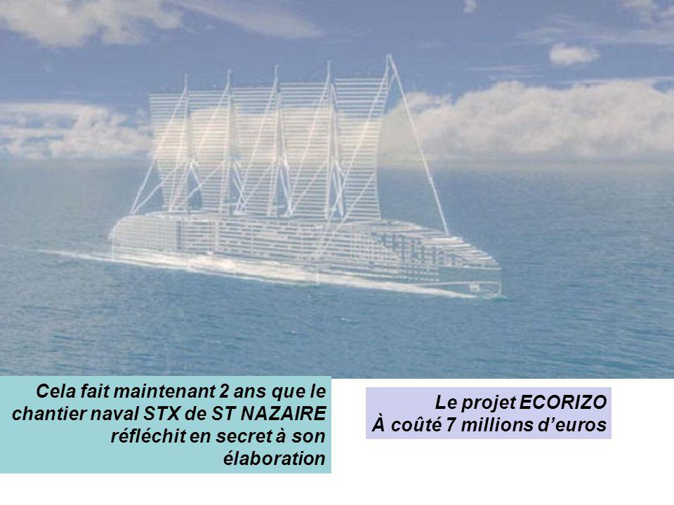 LEOSEAS est un pentamaran de 305 mètres de long 1 coque centrale et 4 flotteurs, cela développe la stabilité du navire mais accroit la largeur (60 mètres)
