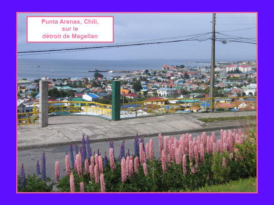 Punta Arenas, Chili, sur le détroit de Magellan