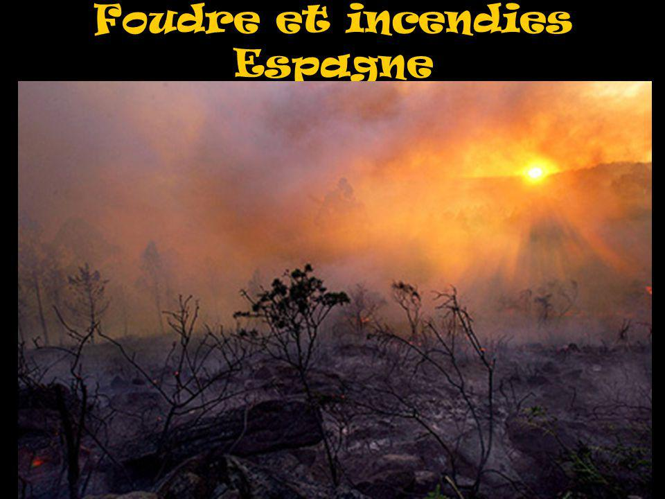 Foudre et incendies Espagne