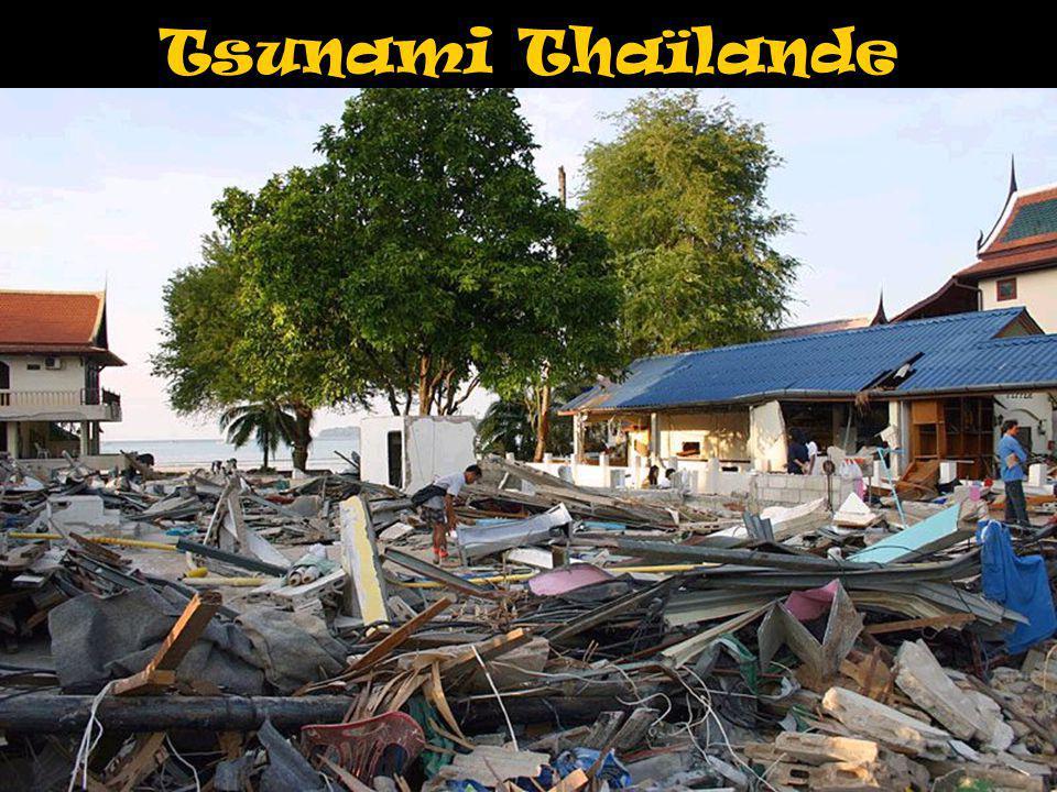 Tsunami Thaïlande