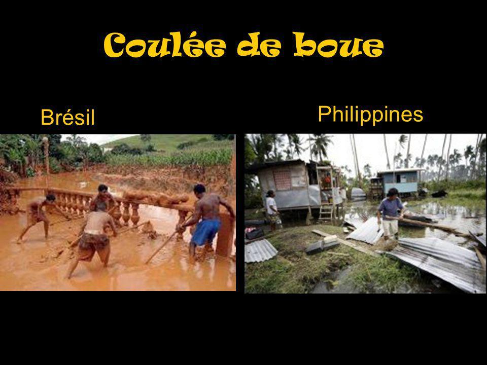 Coulée de boue Brésil Philippines