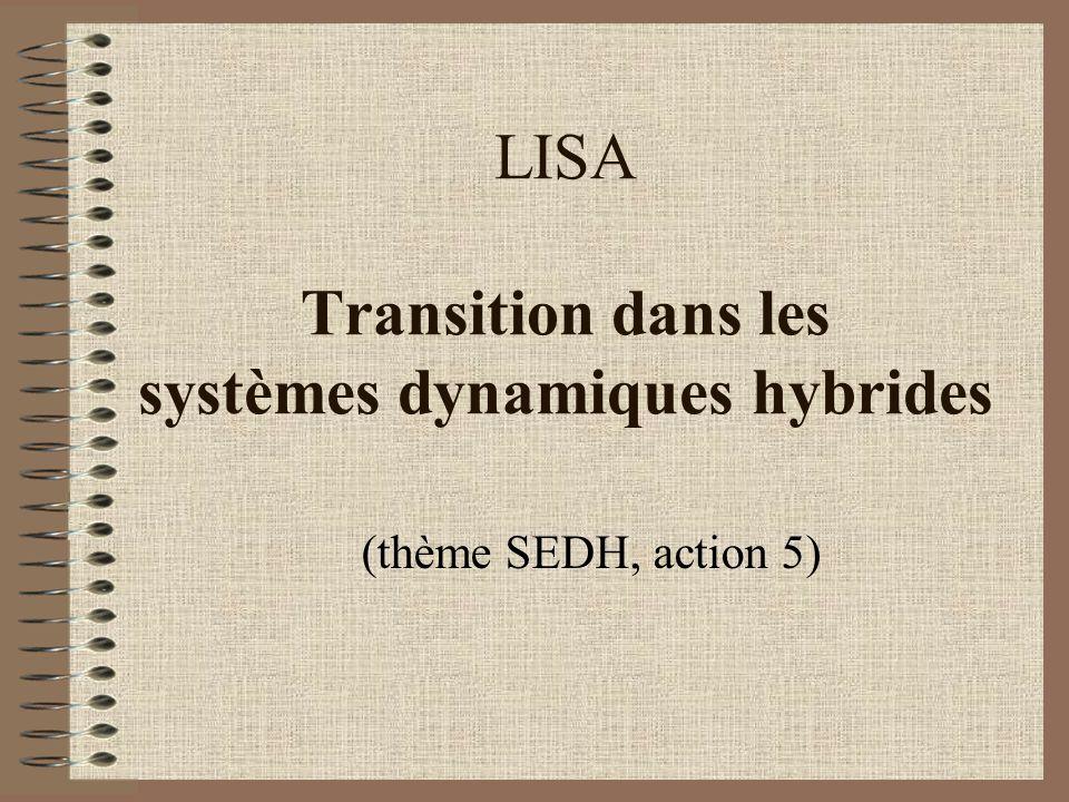 LISA Transition dans les systèmes dynamiques hybrides (thème SEDH, action 5)