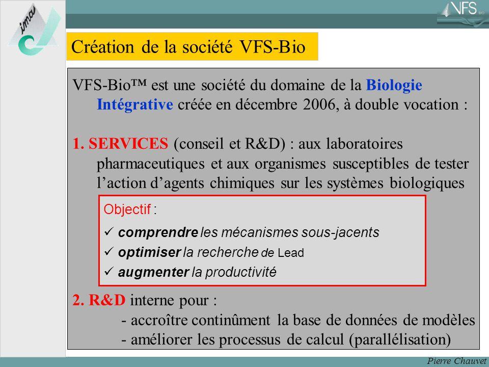 Pierre Chauvet Création de la société VFS-Bio VFS-Bio est une société du domaine de la Biologie Intégrative créée en décembre 2006, à double vocation : 1.
