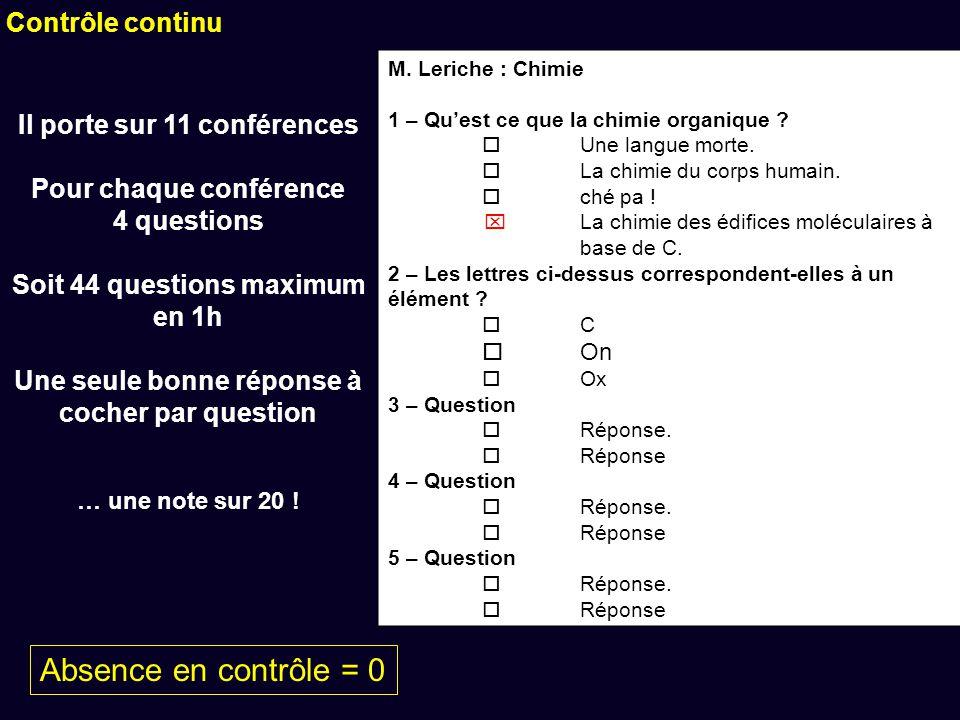 M. Leriche : Chimie 1 – Quest ce que la chimie organique .