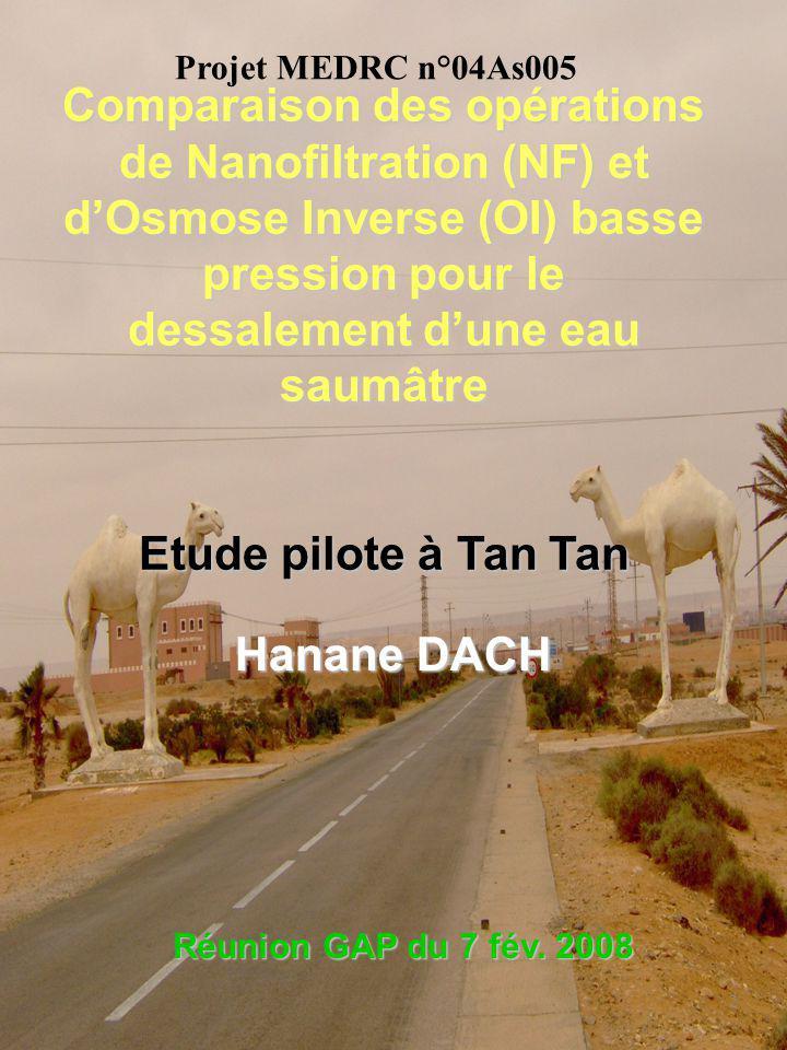 Plan Présentation de la station de déminéralisation deaux saumâtres de Tan Tan (Maroc) Objectifs de létude Matériel et méthodes Résultats et discussions Conclusion et perspectives 3