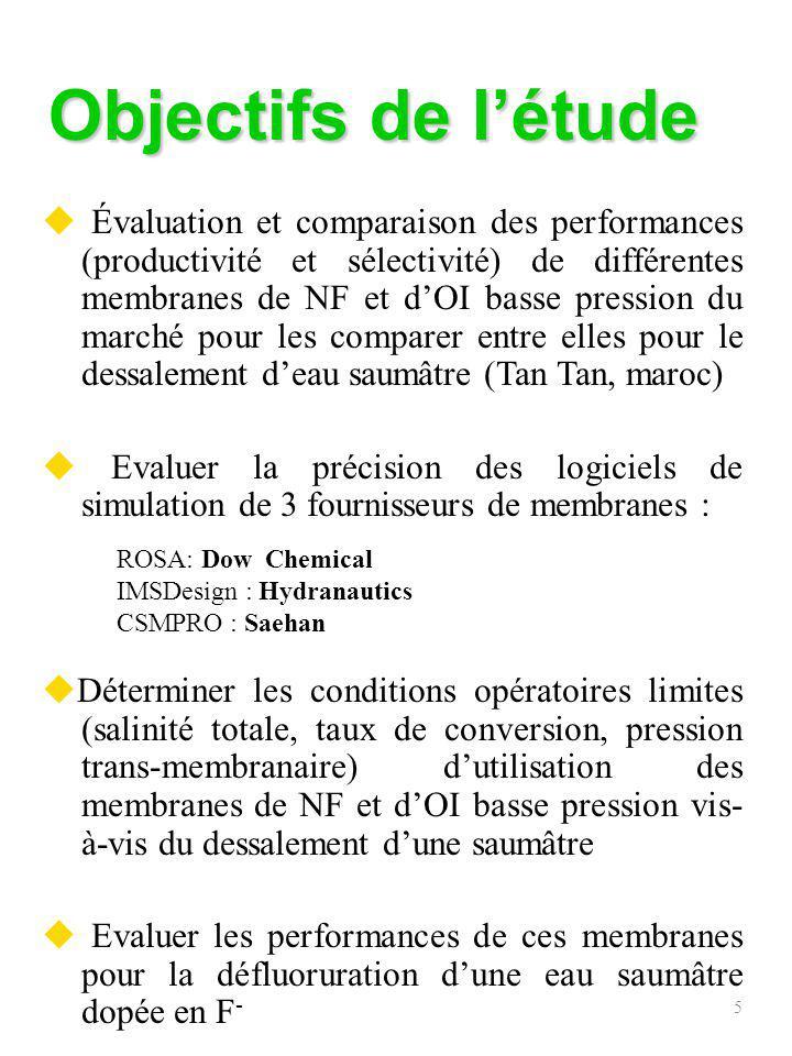 6 Matériels et méthodes Pilote de NF et dOI (1) Réservoir dalimentation de 2.6 m 3 (débit dalimentation max.