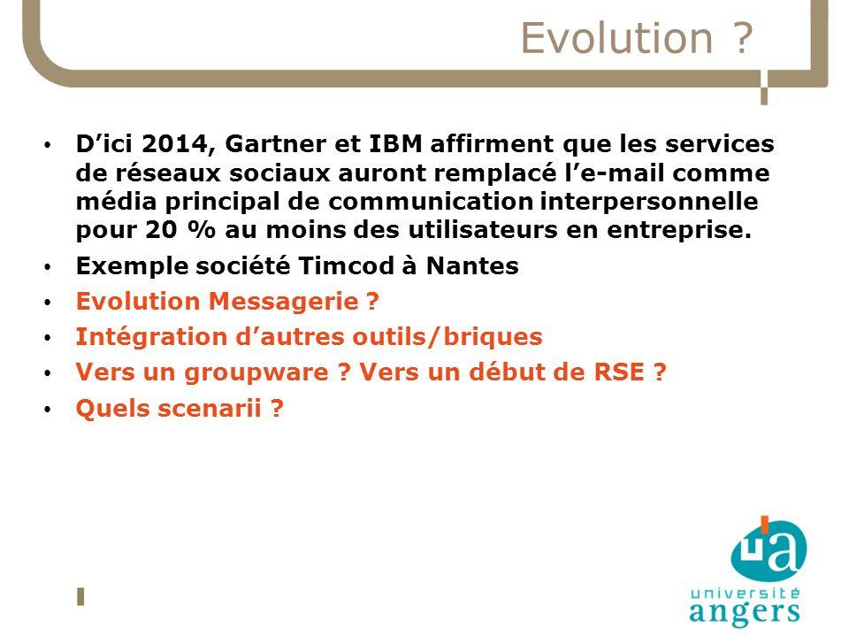 Evolution ? Dici 2014, Gartner et IBM affirment que les services de réseaux sociaux auront remplacé le-mail comme média principal de communication int