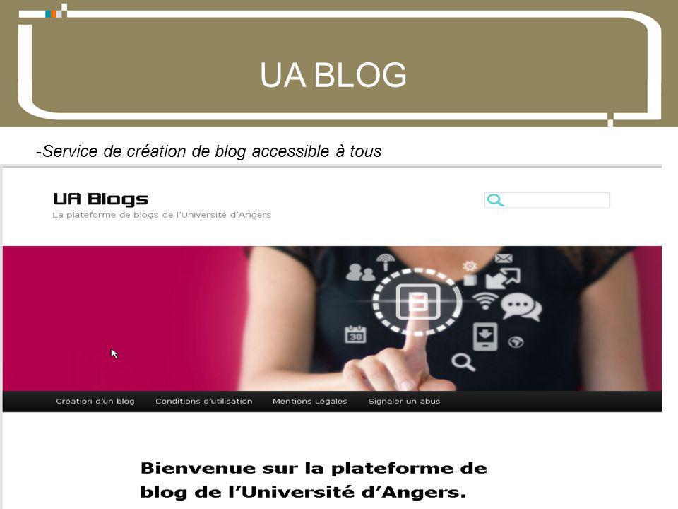 07 Décembre 2012Direction du développement du numérique 5 UA BLOG -Service de création de blog accessible à tous