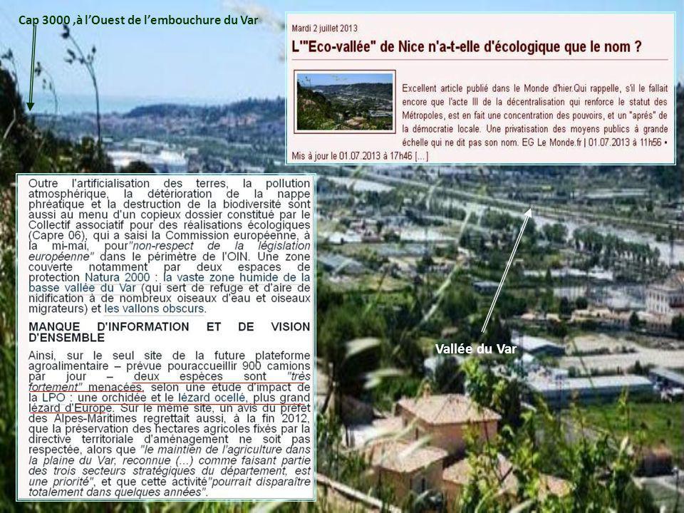 Nice Matin 19 Juin 2013 :Cap 3000 se déploiera sur 100.000m2 face à la mer en 2020 !! VAR La Commission daménagement commercial a donné son accord pou