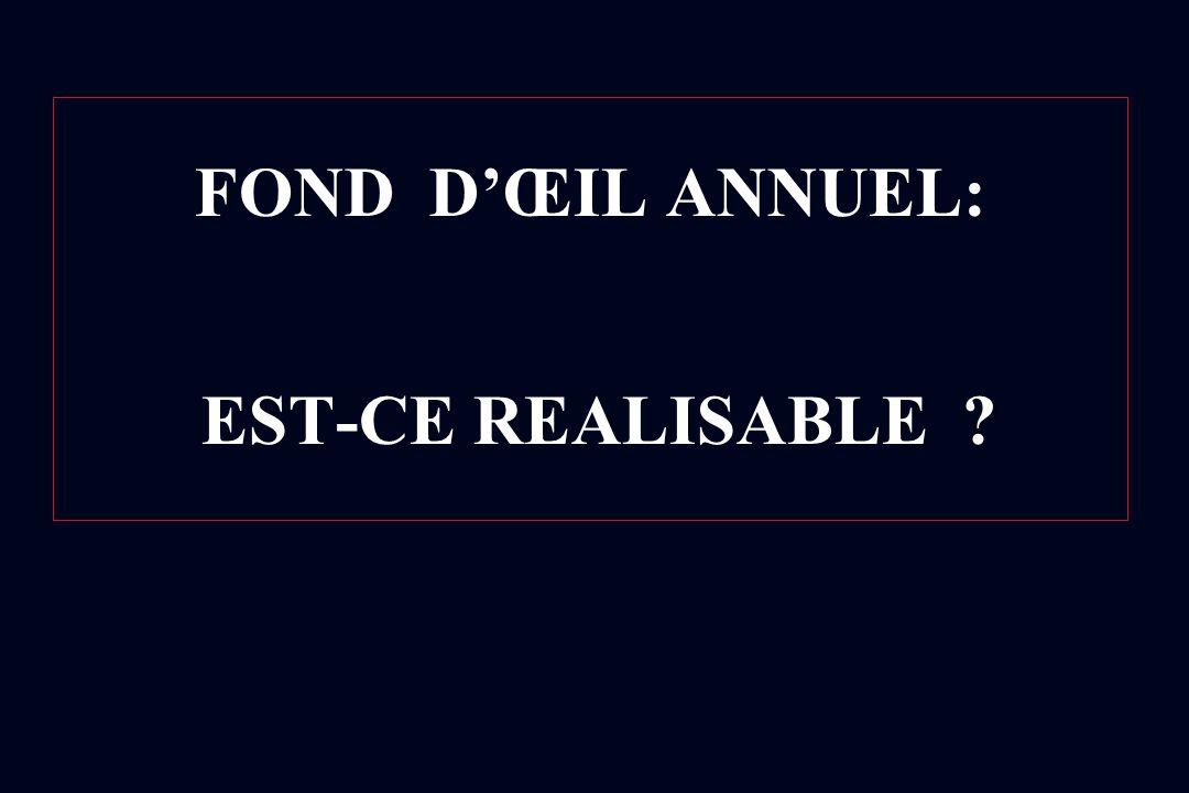 FOND DŒIL ANNUEL: EST-CE REALISABLE ?