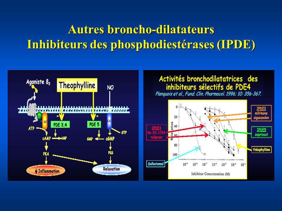 Autres broncho-dilatateurs Inhibiteurs des phosphodiestérases (IPDE)