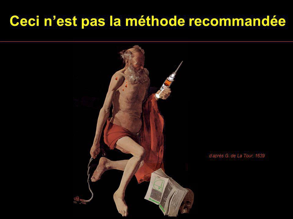 daprès G. de La Tour, 1639 Ceci nest pas la méthode recommandée Recomman