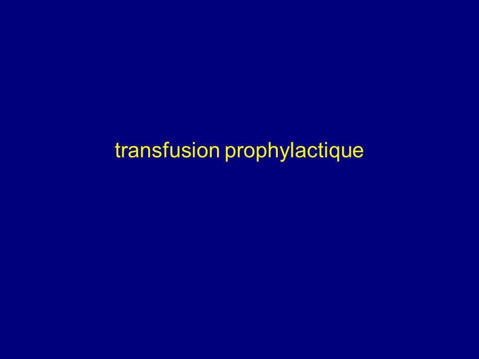 transfusion prophylactique