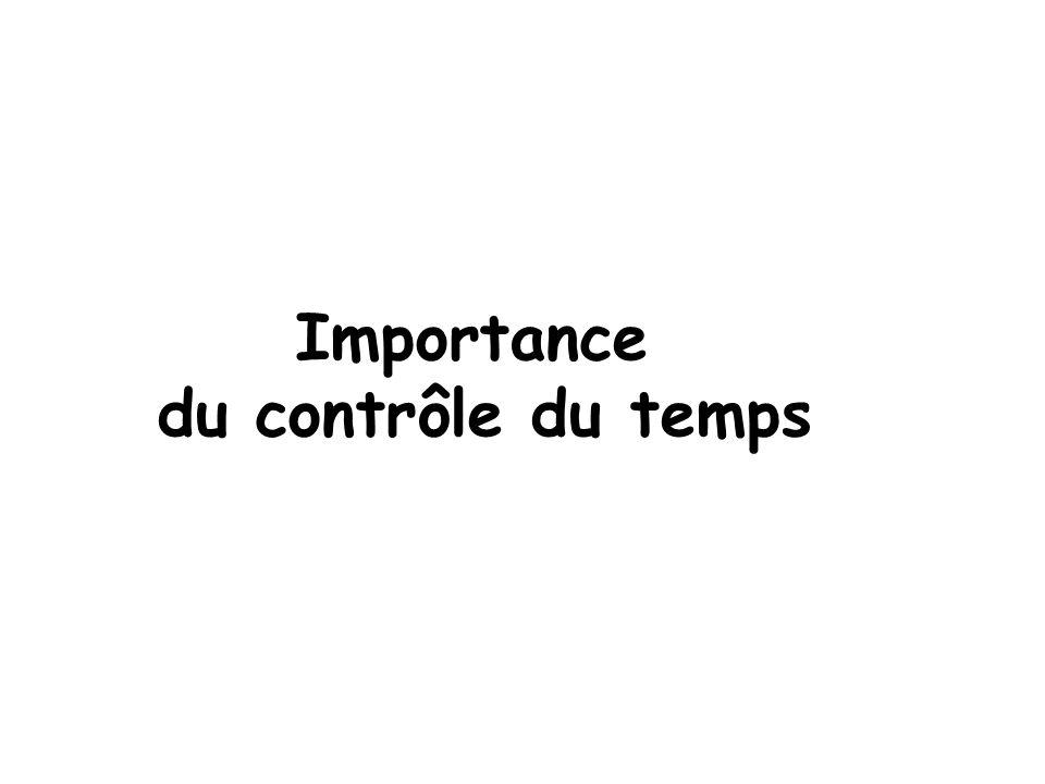 Importance du contrôle du temps