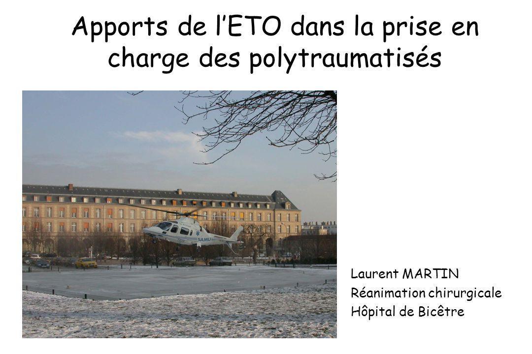 Apports de lETO dans la prise en charge des polytraumatisés Laurent MARTIN Réanimation chirurgicale Hôpital de Bicêtre